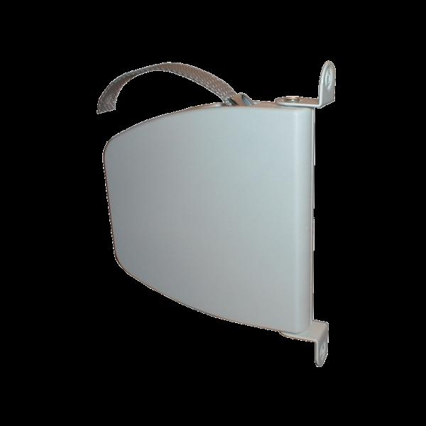 Mini-Schwenkwickler weiß mit 5 m silbergrauen Band