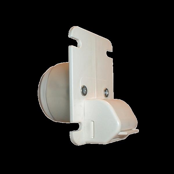 Gurtführung H 25 mit Putzschutz, Leitrolle u. Abdichtring, ET 35 mm