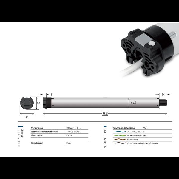 Rohrmotor Sileo 6 Nm 74 U/min XQ5P674