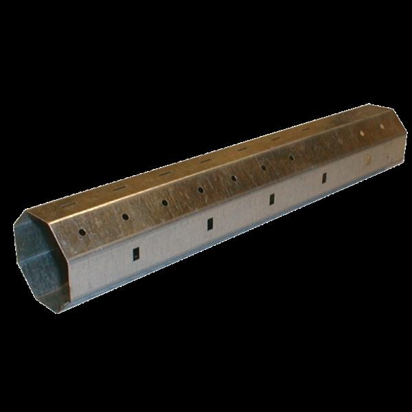 Stahlwelle achtkant, 60 ø x 0,6 mm, 230 cm, feuerverzinkt