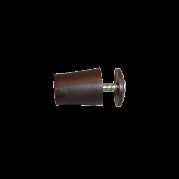 Anschlagpuffer mit Platte und Schraube, 28 mm, dunkelbraun