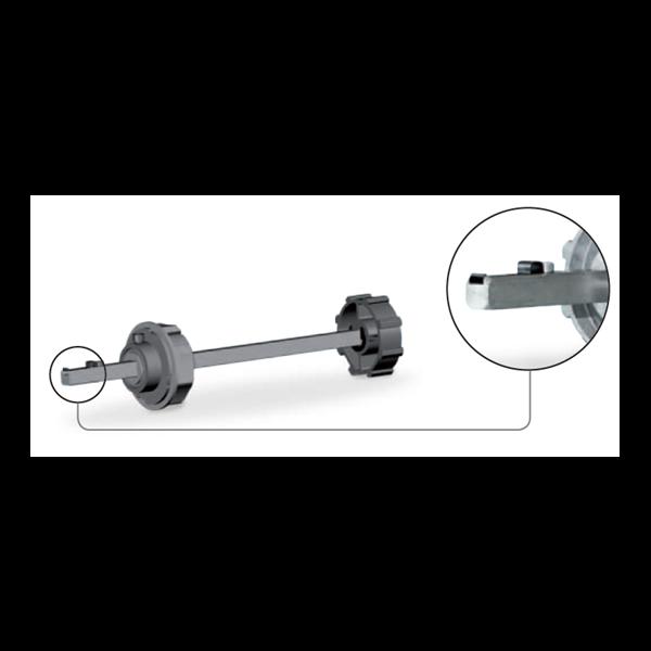 Walzenkappe verstellb. 70er 8kant 13X13 f. Fangvorrichtung