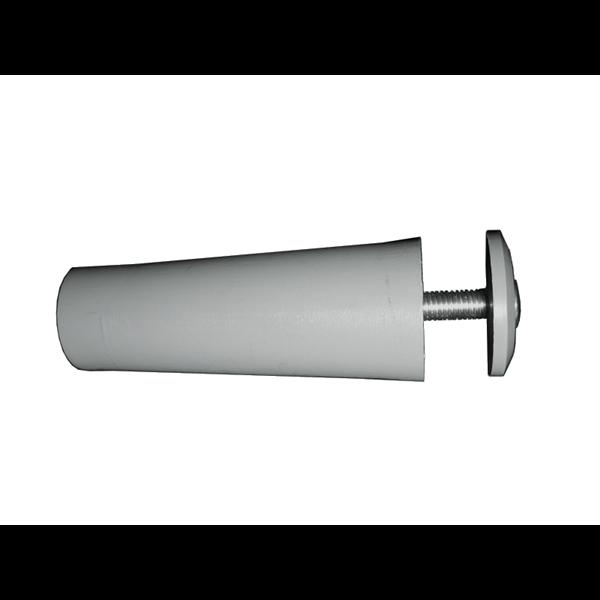 Anschlagpuffer mit Platte und Schraube, 60 mm, grau