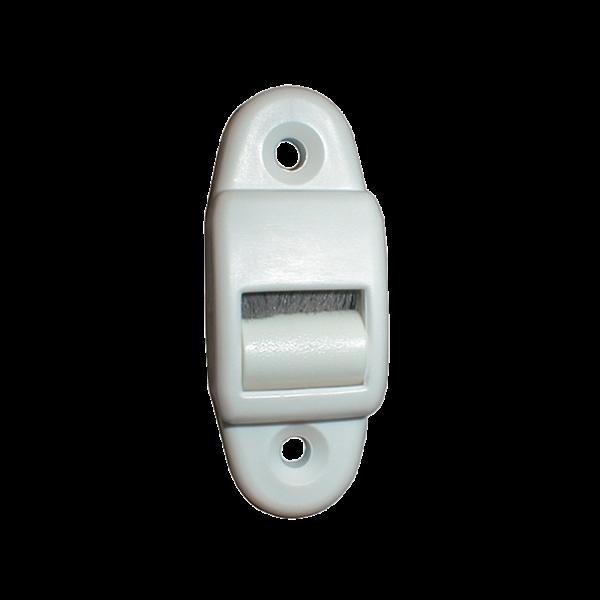 Mini-Leitrolle Hochformat mit Bürste, weiß, Kunststoff