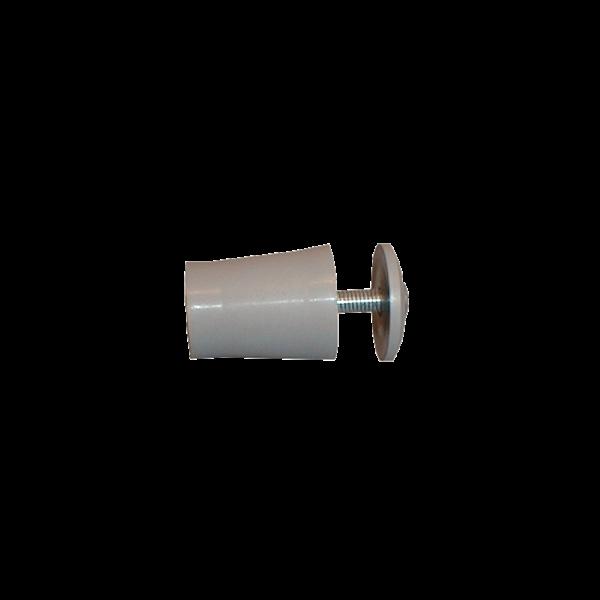 Anschlagpuffer mit Platte und Schraube, 28 mm, grau