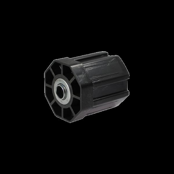 Walzenkappe 65 mm (15+50) und Mini-Kugellgr. 0176.2 , 60 mm ø achtkant, Kunststoff