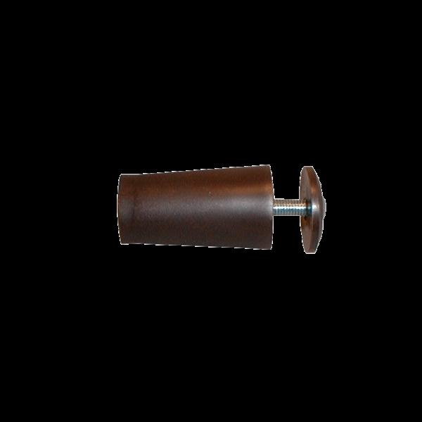 Anschlagpuffer mit Platte und Schraube, 40 mm, dunkelbraun