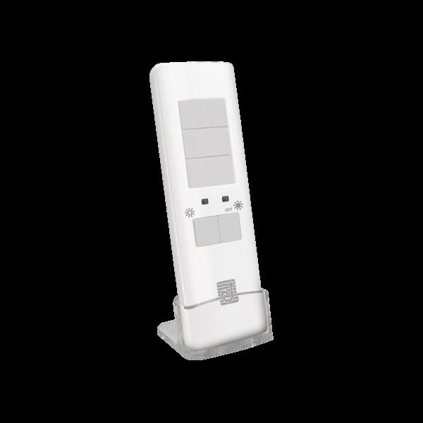Handsender QCTXS 1-Kanal für Markisen weiß 868MHz mit Tisch-/Wandhalterung
