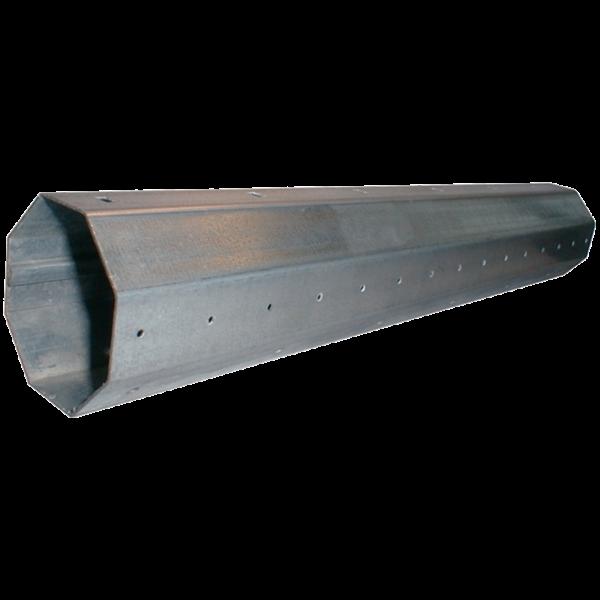 Stahlwelle achtkant, 70 ø x 1,0 mm, 600 cm feuerverzinkt