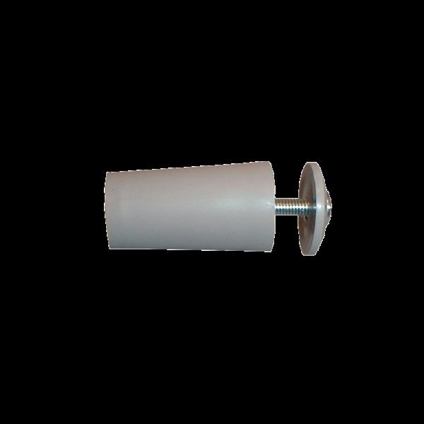 Anschlagpuffer mit Platte und Schraube, 40 mm, grau