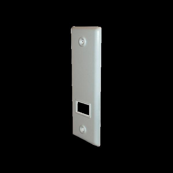 Abdeckplatte SOFTLINE 3/3-5 m, LA 135 mm, weiß, Kunststoff