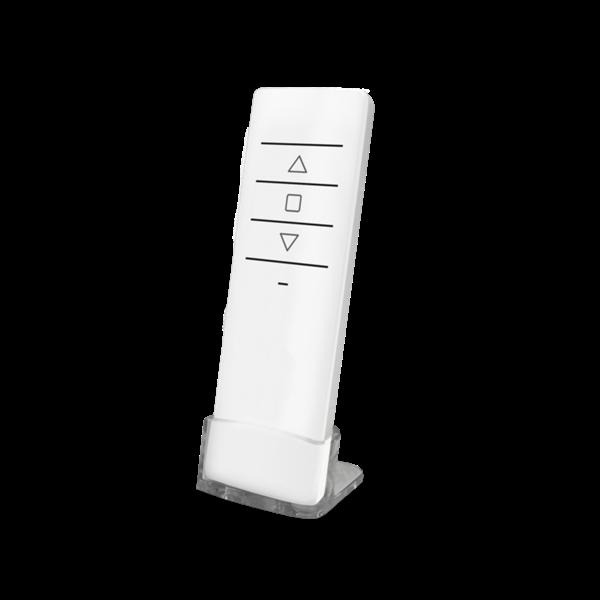 Handsender QCTX1 1-Kanal weiß 868MHz mit Tisch-/Wandhalterung