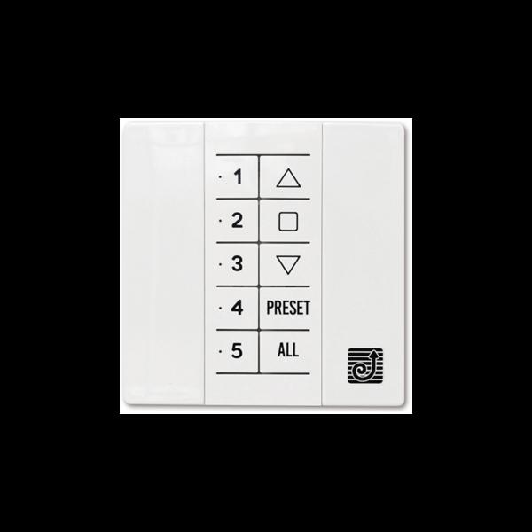 Wand-Handsender 5-Kanal weiß QCTX02W - 868Mhz