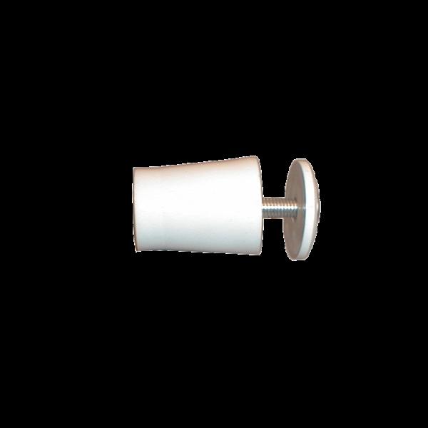 Anschlagpuffer mit Platte und Schraube, 28 mm, weiß