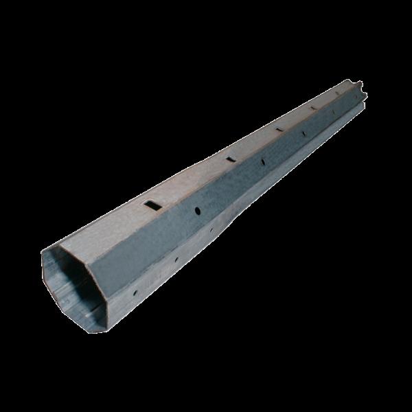 Mini-Teleskopwelle achtkant, 40 ø x 400 mm, verzinkt