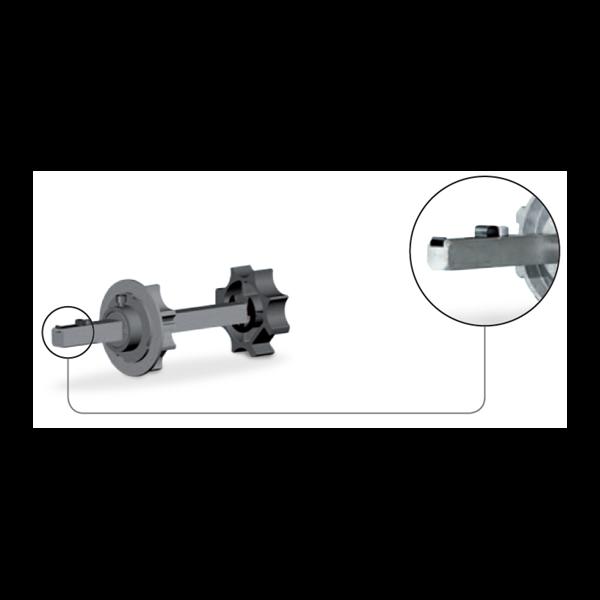 Walzenkappe verstellb. 70er 8kant 18X18 f. Fangvorrichtung