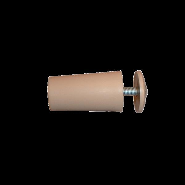 Anschlagpuffer mit Platte und Schraube, 40 mm, beige