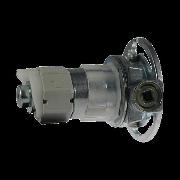 Mini-Kegelradgetriebe R/L Untersetzung 2,6:1 f. 40er 8-kant Welle max. 20 kg