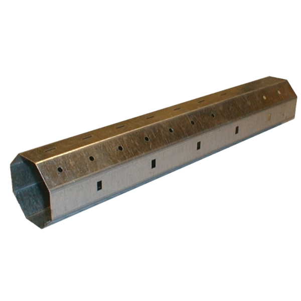 Stahlwelle achtkant, 60 ø x 0,6 mm, 600 cm, feuerverzinkt