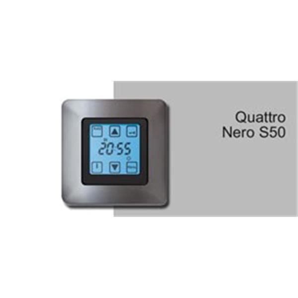 Steuerung Quattro NERO (10 Funktionen) UP mit 1Fach Rahmen