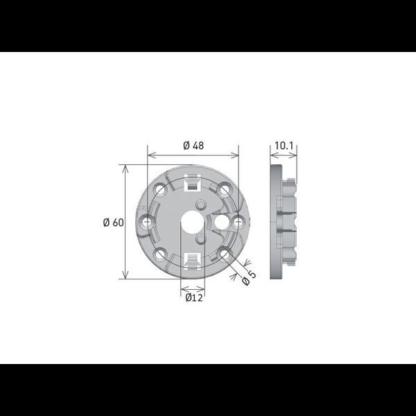 Antriebslager zum Anschrauben Clipbefestigung f. MP 9