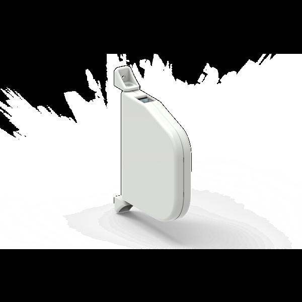 Mini-Schwenkwickler ohne Gurt weiß aufklappbar