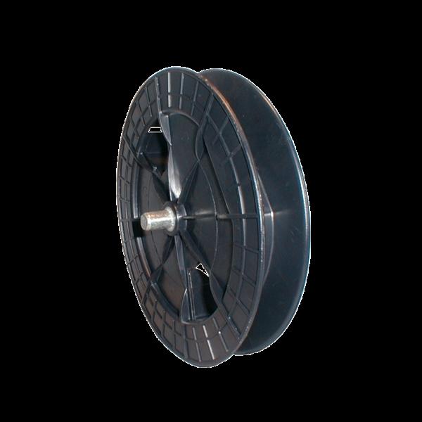 Gurtscheibe 190 mm ø mit 60 mm ø Achtkantkappe und Stahlstift