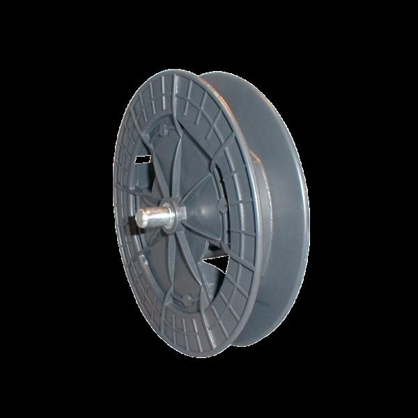 Gurtscheibe 170 mm ø mit 60 mm ø Achtkantkappe und Stahlstift