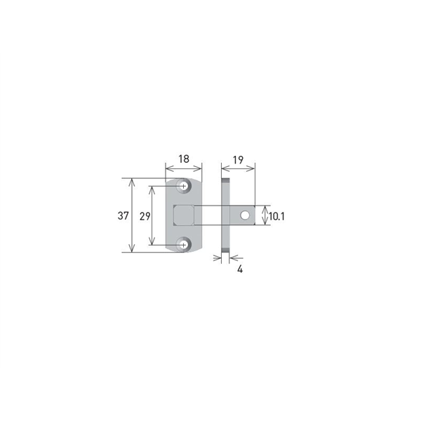 Vierkantstift 10x10 für Rohrmotor Axel MP9