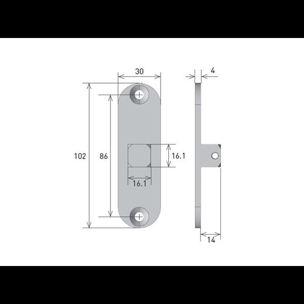 Vierkantstift 16x16 für Rohrmotor Axial M