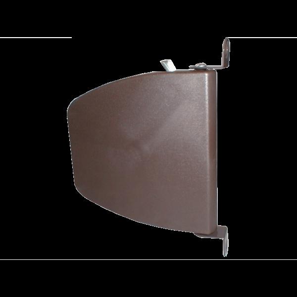 Mini-Schwenkwickler ohne Band mit Metallwinkel, braun