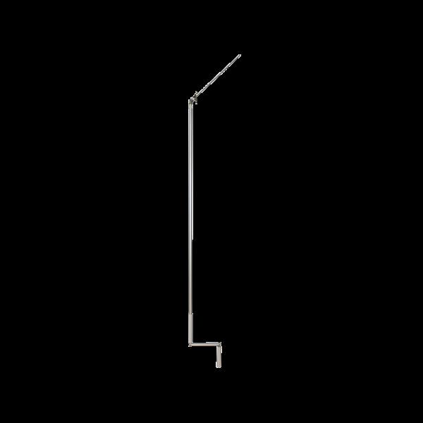 Kurbelstange 1400 mm mit 45° Gelenklager, silber eloxiert