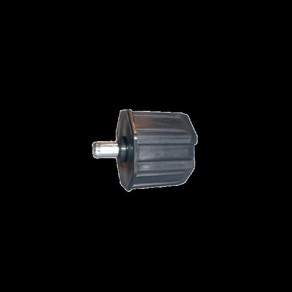 Walzenkappe 45 mm mit Stift 12 mm ø, 60 mm ø achtkant, Kunststoff