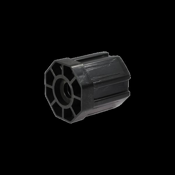 Walzenkappe 65 mm (15+50) für 28mm Ø Kugellgr., 60 mm ø achtkant, Kunststoff