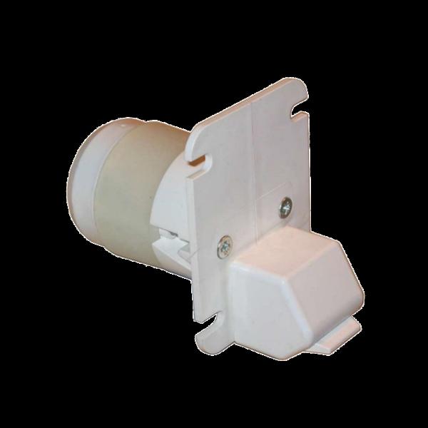 Gurtführung H 30 mit Putzschutz, Leitrolle u. Abdichtring, ET 60 mm