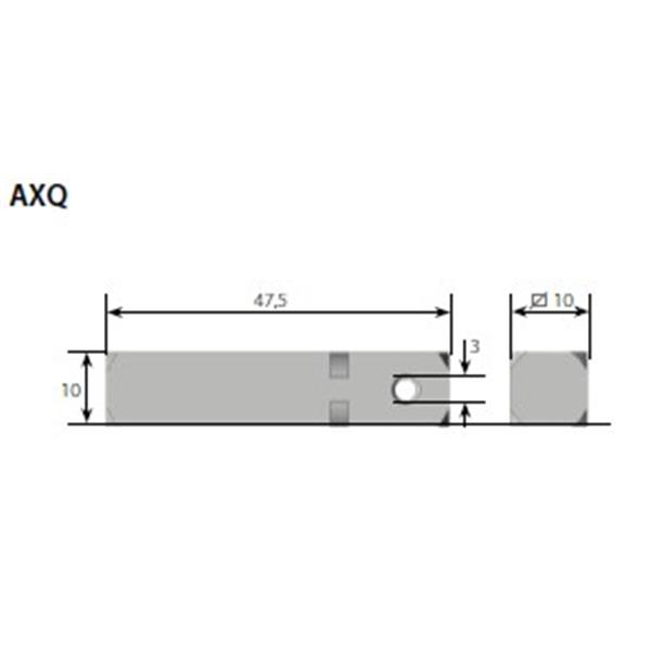 Vierkantstift 10x10 mm für Rohrmotor Axel