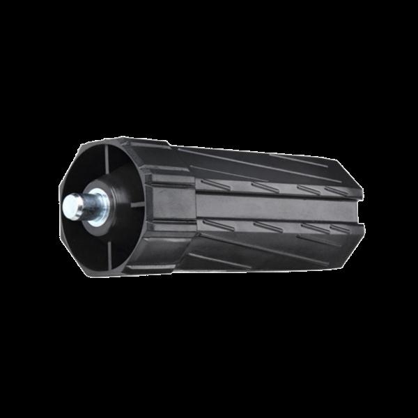 Walzenkappe 145 mm mit Stift 12 mm ø, für Schiebescheibe, 60 mm ø achtkant, Kunststoff