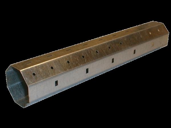 Stahlwelle achtkant, 60 ø x 0,8 mm, 300 cm, feuerverzinkt