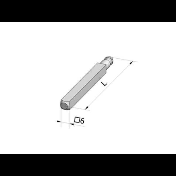 Antriebsstab 4kant/6mm/L300mm vernick.