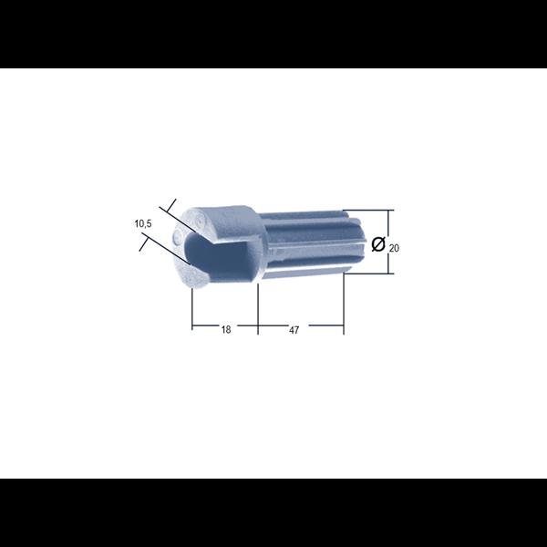 Mini-Einschlagdübel offen Kunststoff
