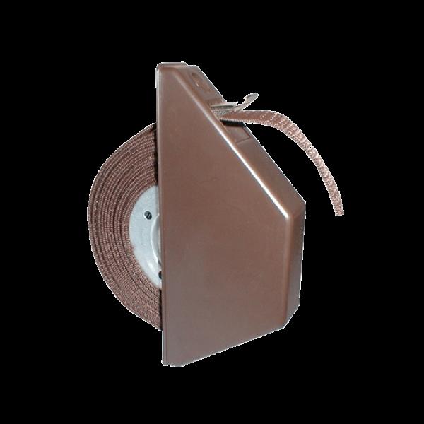 Mini-Halbeinlasswickler mit 5 m Band, braun