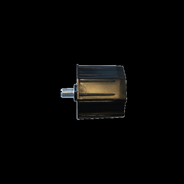Walzenkappe 65 mm mit Außenstift, 70 achtkant, Kunststoff