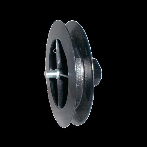 Mini-Gurtscheibe 140 ø, Stahlstift außen