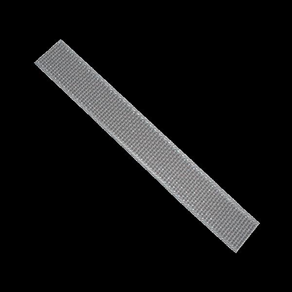 Getriebegurt 23 mm, gerollt 12 m, beidseitig gelocht, silbergrau