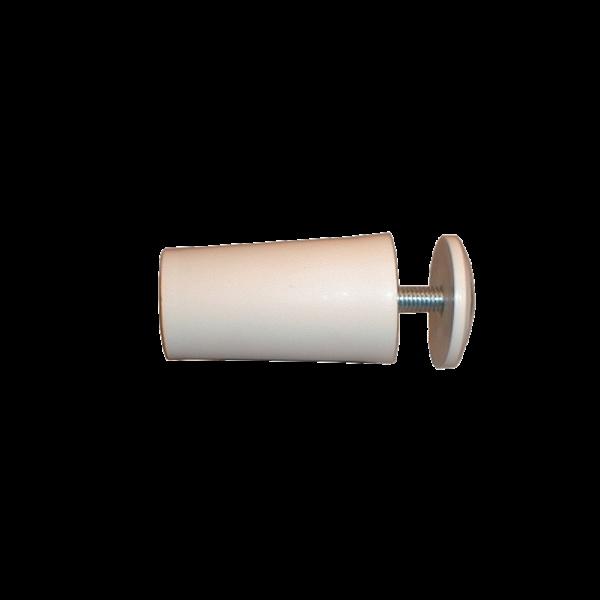 Anschlagpuffer mit Platte und Schraube, 40 mm, weiß